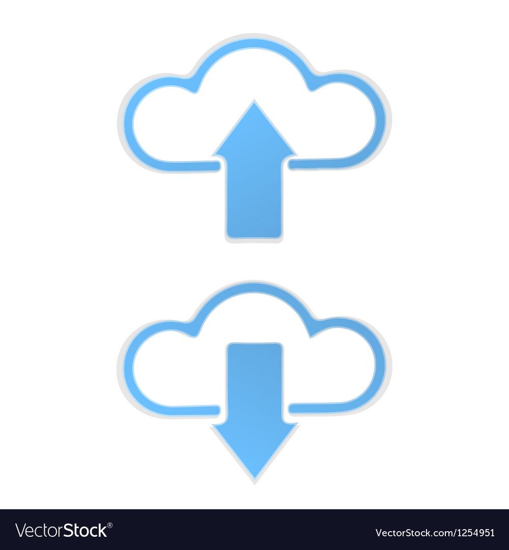 Cloud data Upload vector image