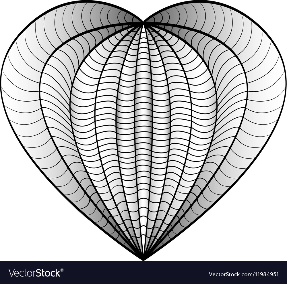 - Decorative Love Heart Coloring Book For Adult And Vector Image