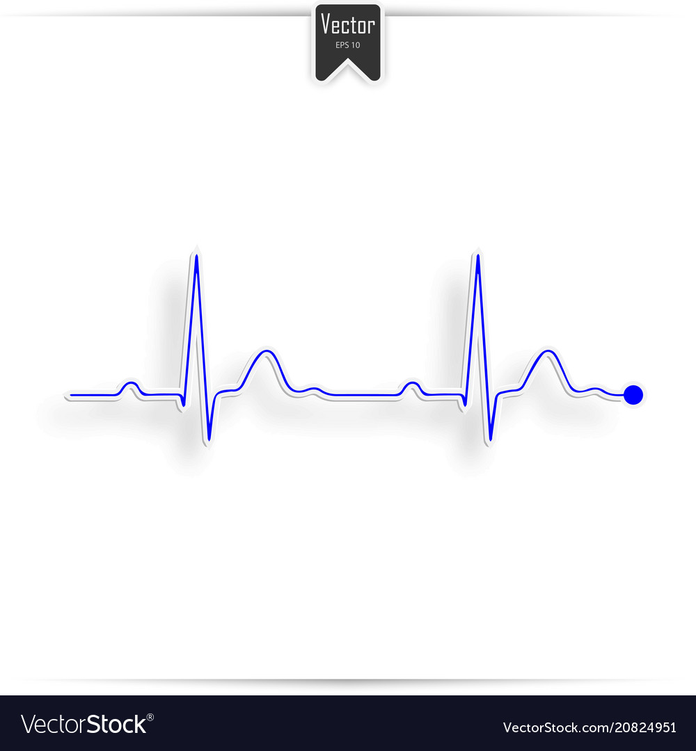 Ekg symbol on white - medical background vector image