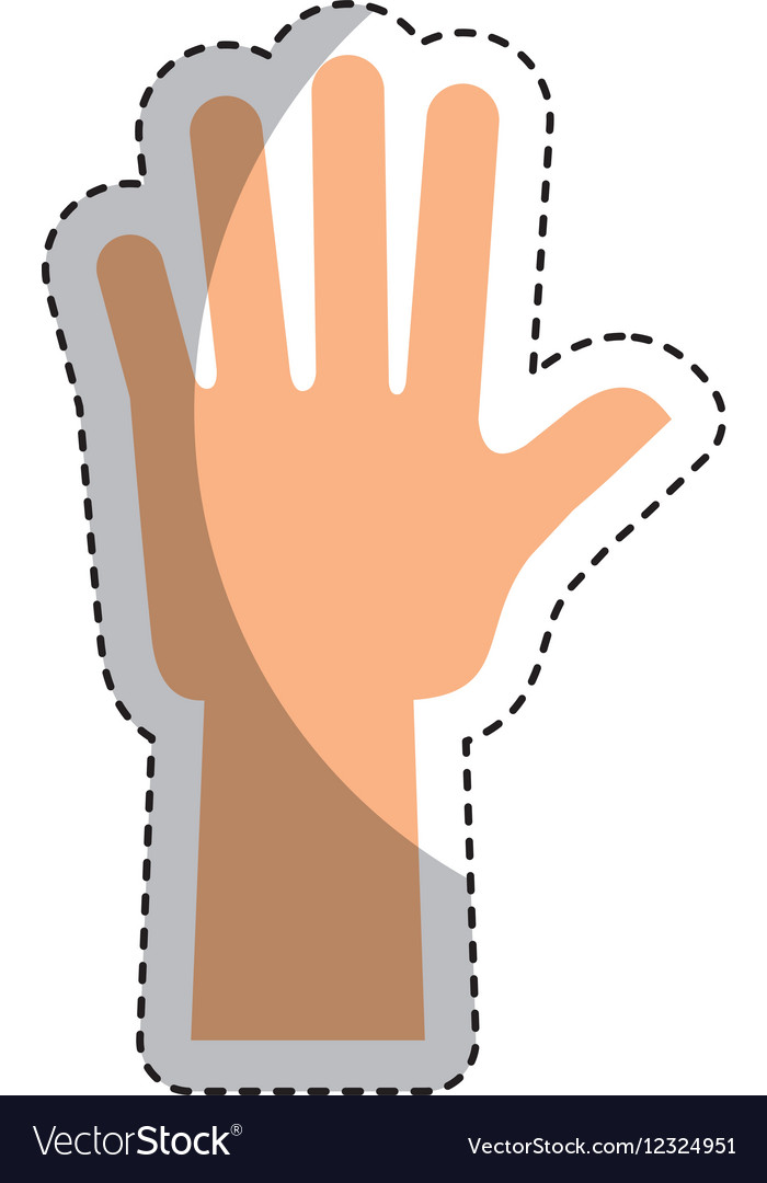 Hand human up isolated icon