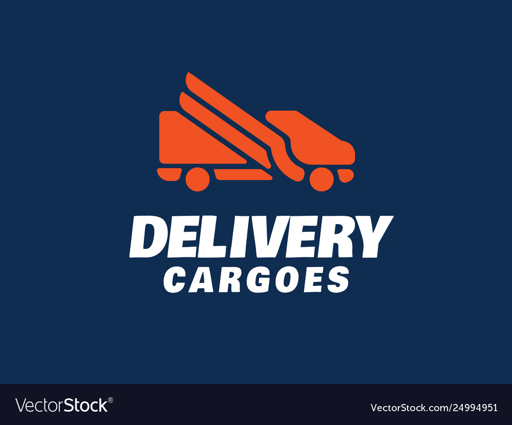 Modern professional logo delivery cargoes