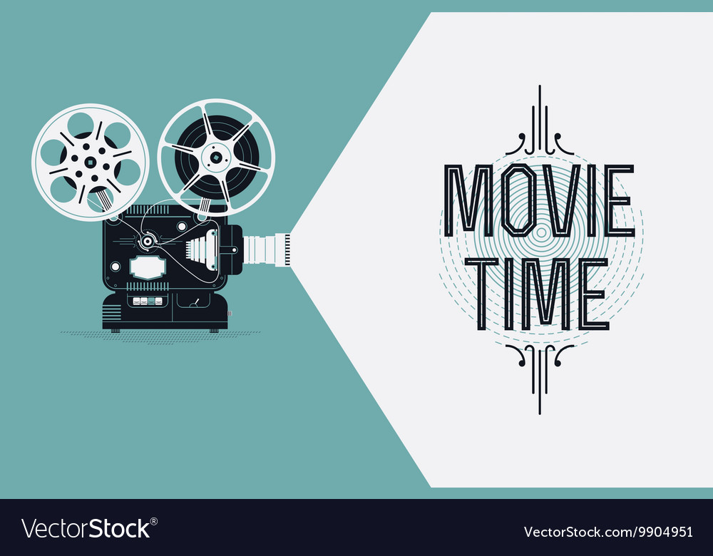 Movie Projector Banner Vector Image