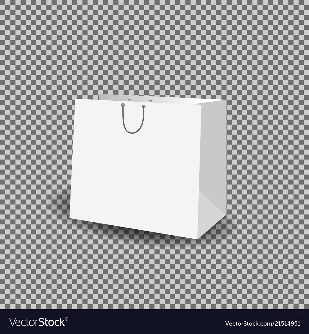 paper bag mock up template royalty free vector image