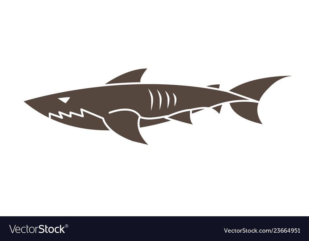 Shark swim cartoon graphic
