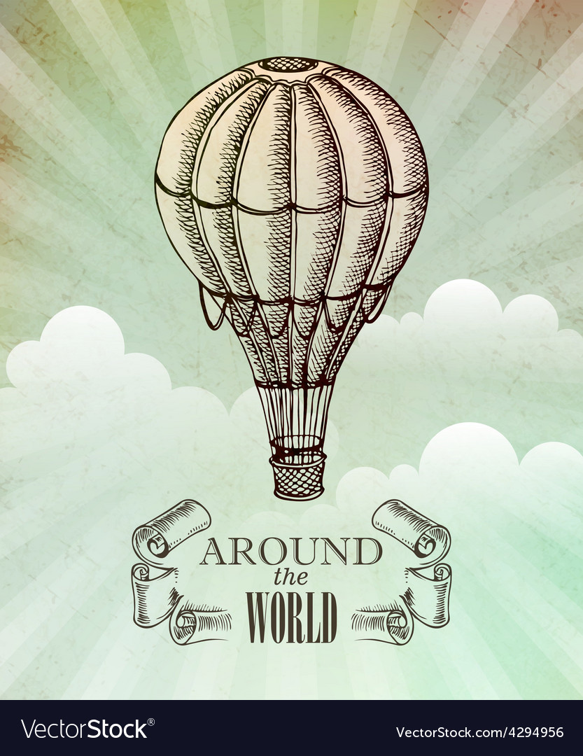 Aeronautic adventure vintage vector image