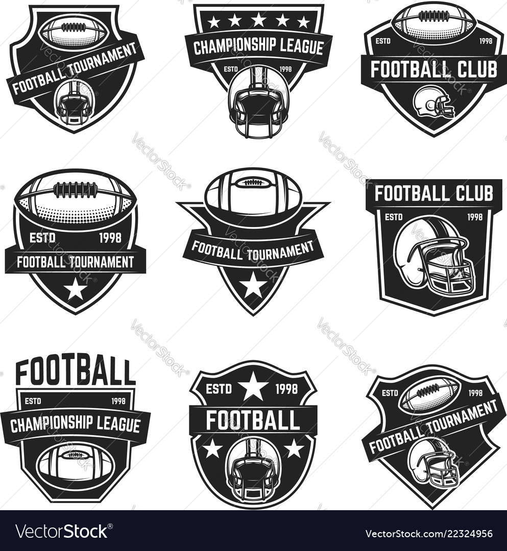 American football emblems design element for logo