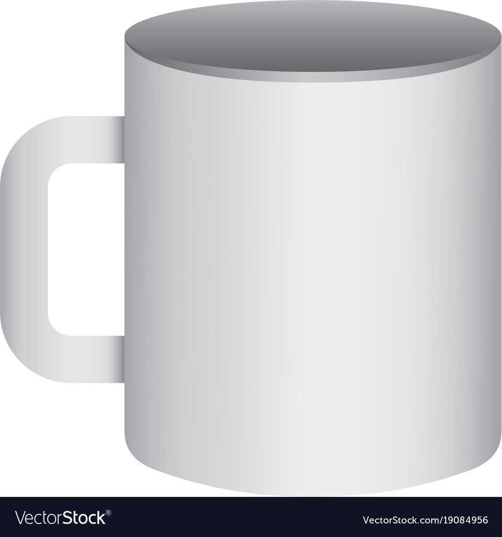 Corporate ceramic mug mockup empty template for Vector Image