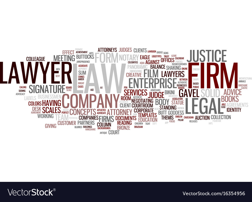 Firms word cloud concept
