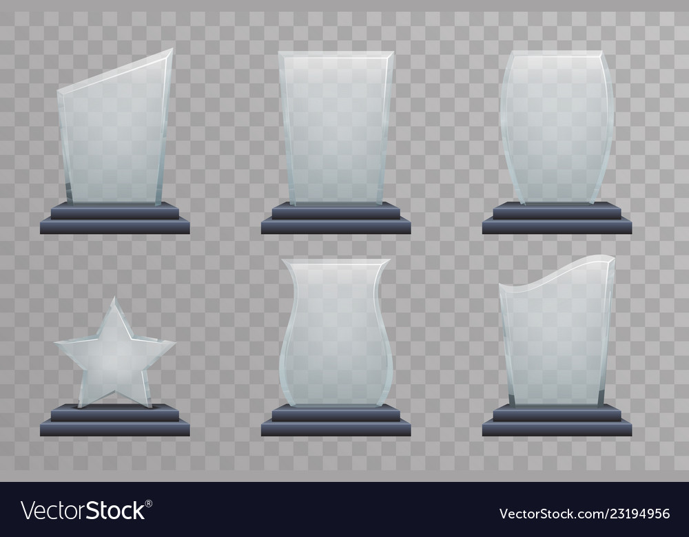 Glass trophy award decoration design elements