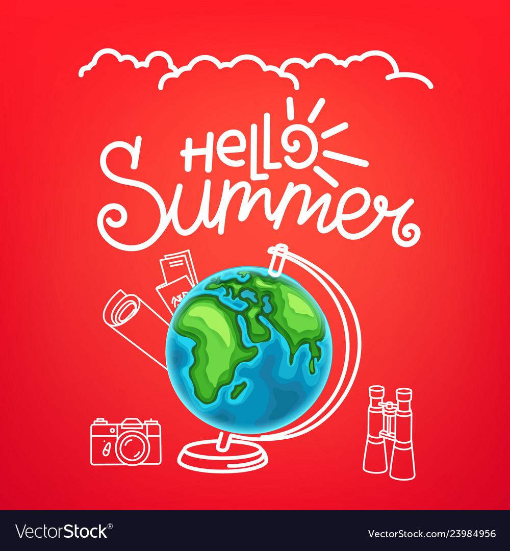 Hello summer concept summer travel
