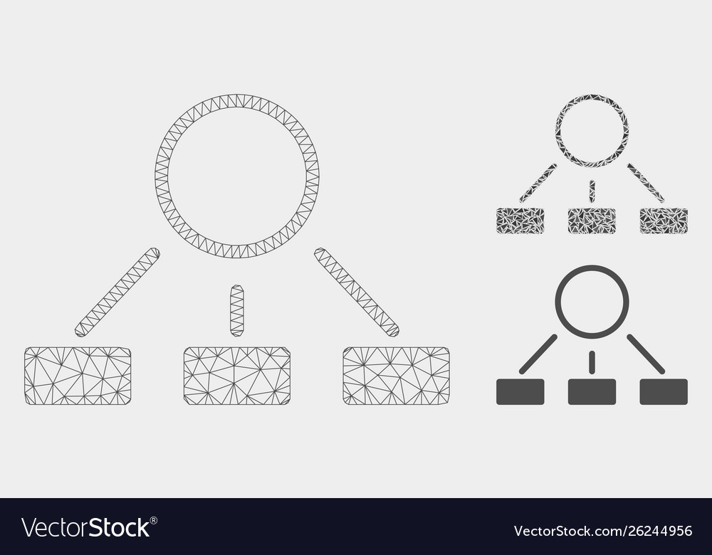 Hierarchy mesh carcass model and triangle
