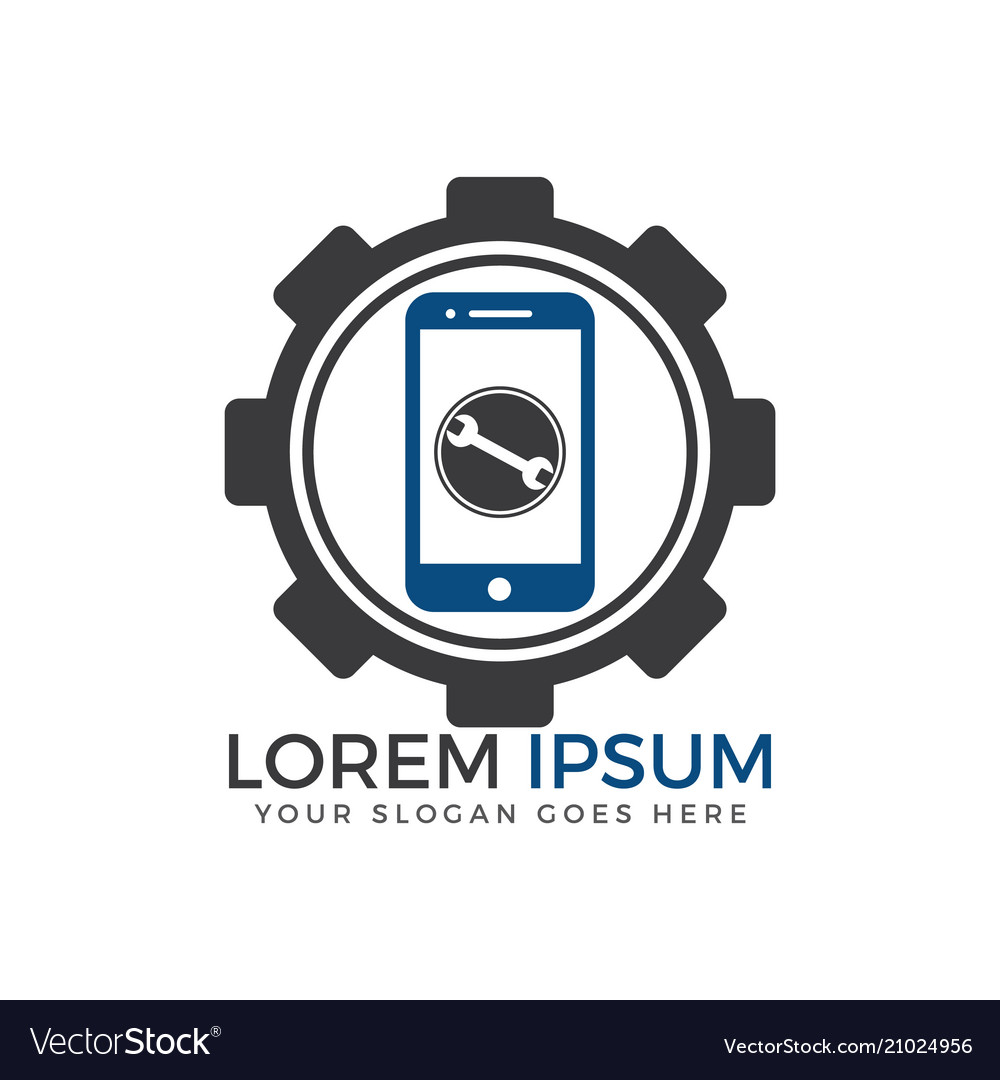 Mobile Phone Repairing Logo Design Royalty Free Vector Image