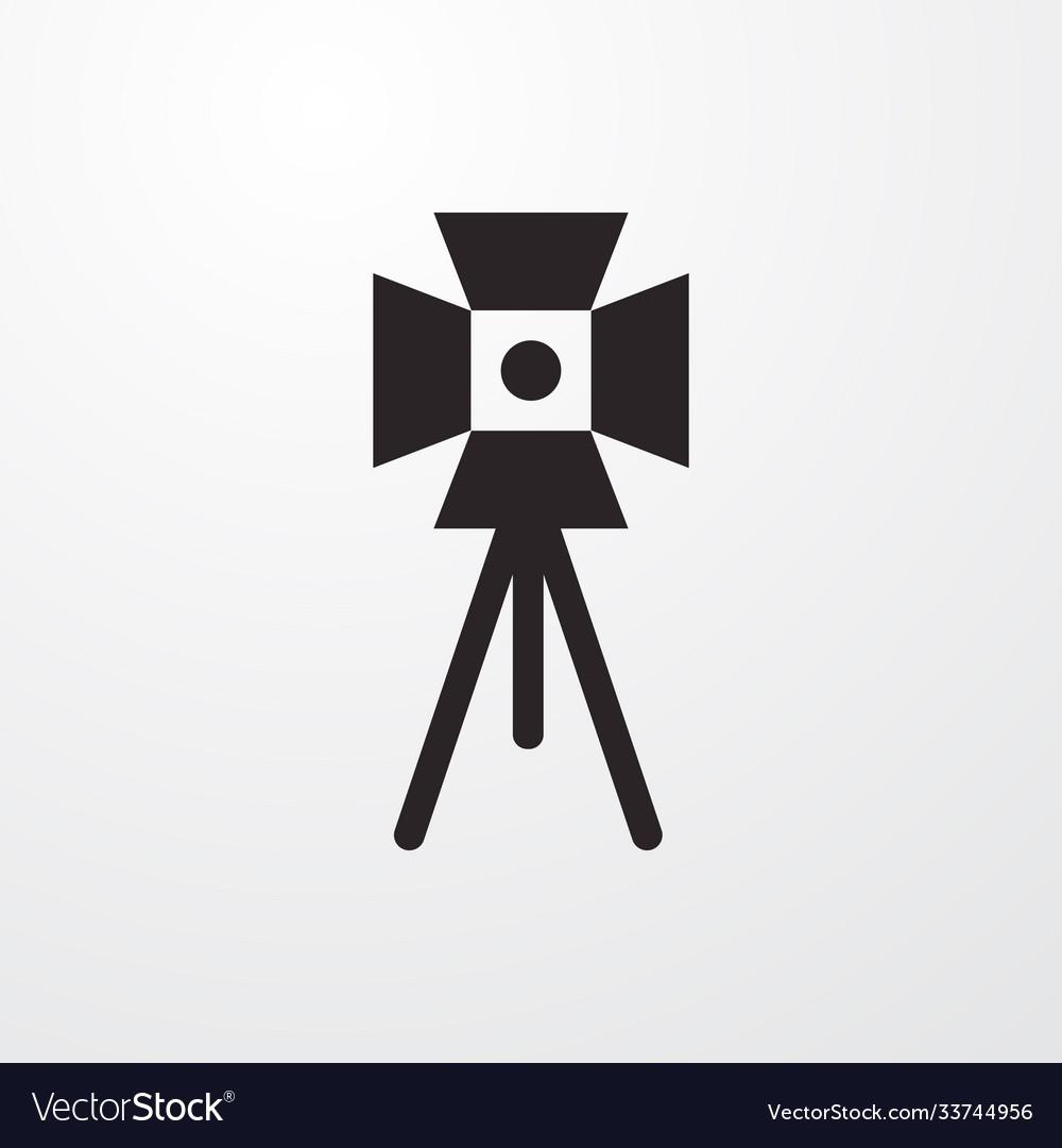 Old cinema camera sign icon cinema camera