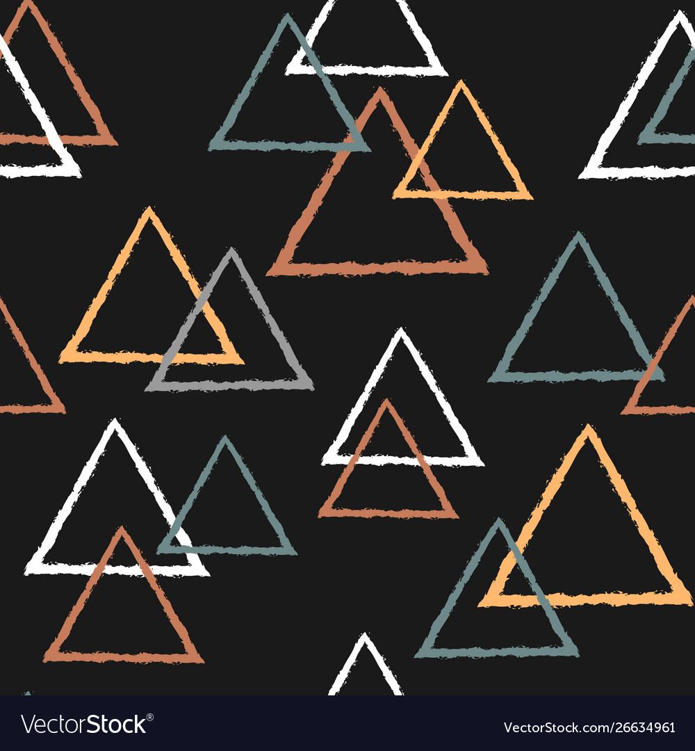 Abstract seamless pattern with triangles in pastel