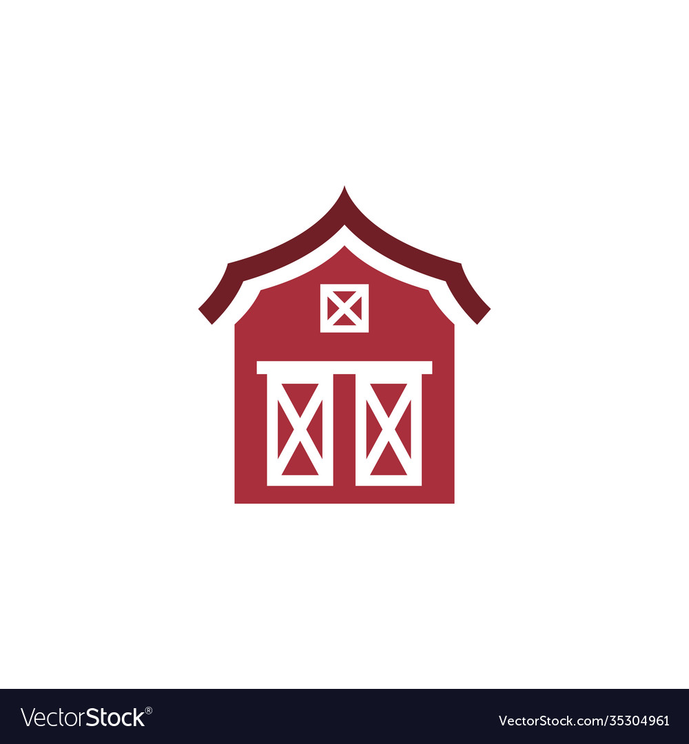 Barn icon design template isolated