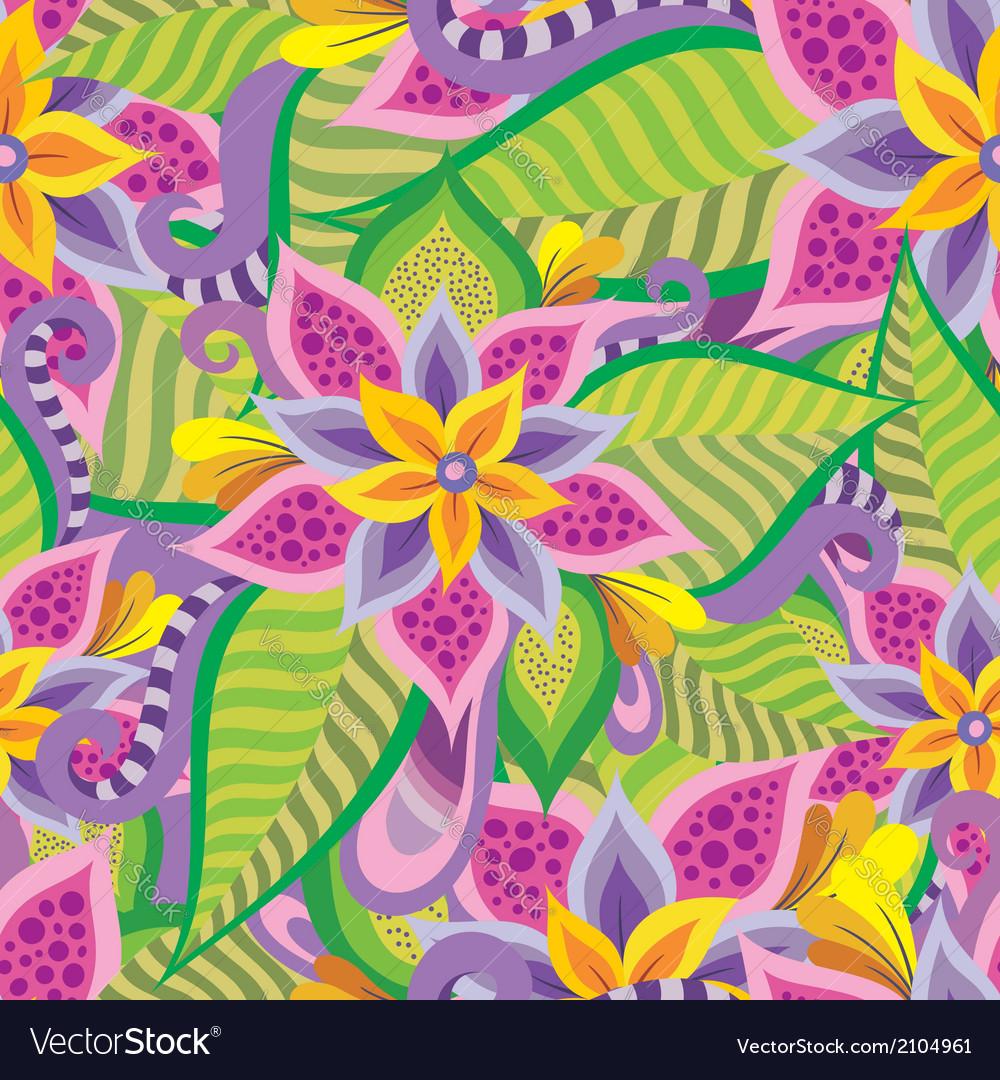 Beautiful decorative floral ornamental seamless