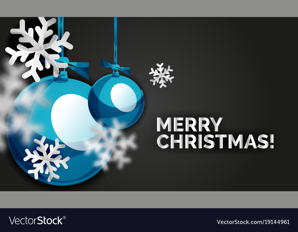 Christmas ball greeting card new year
