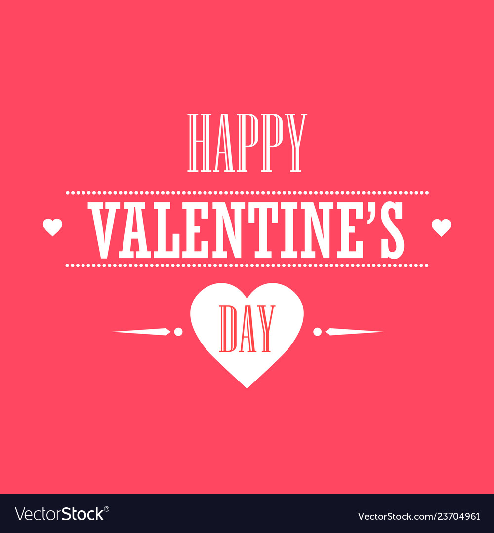 Creative love greeting card happy valentines day