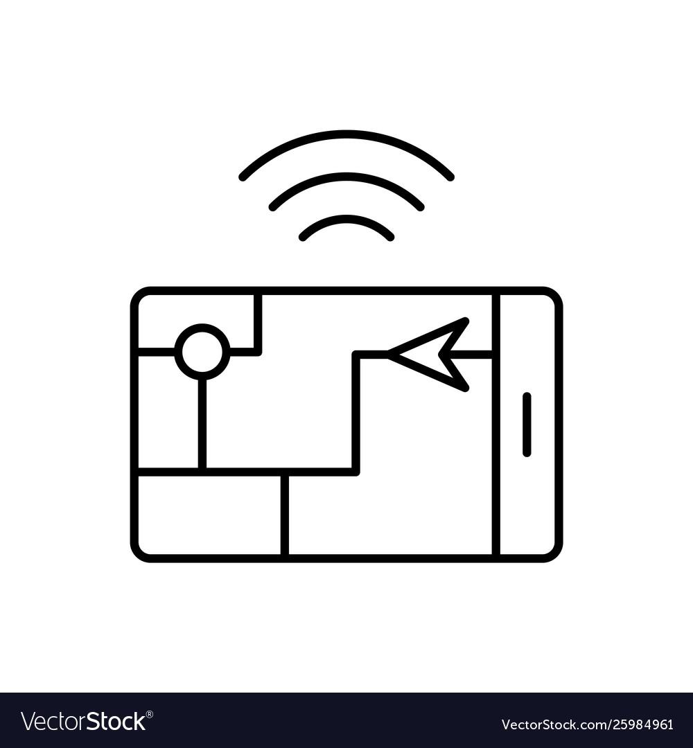 Gps smart location icon - artificial