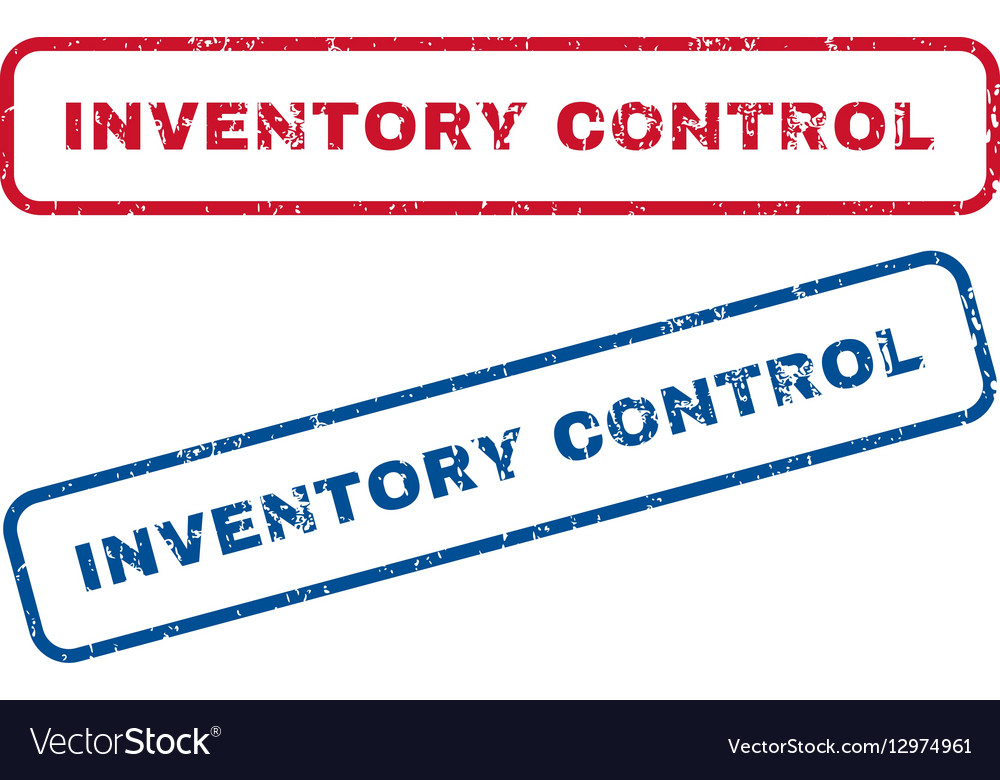 Inventory Control Rubber Stamps vector image