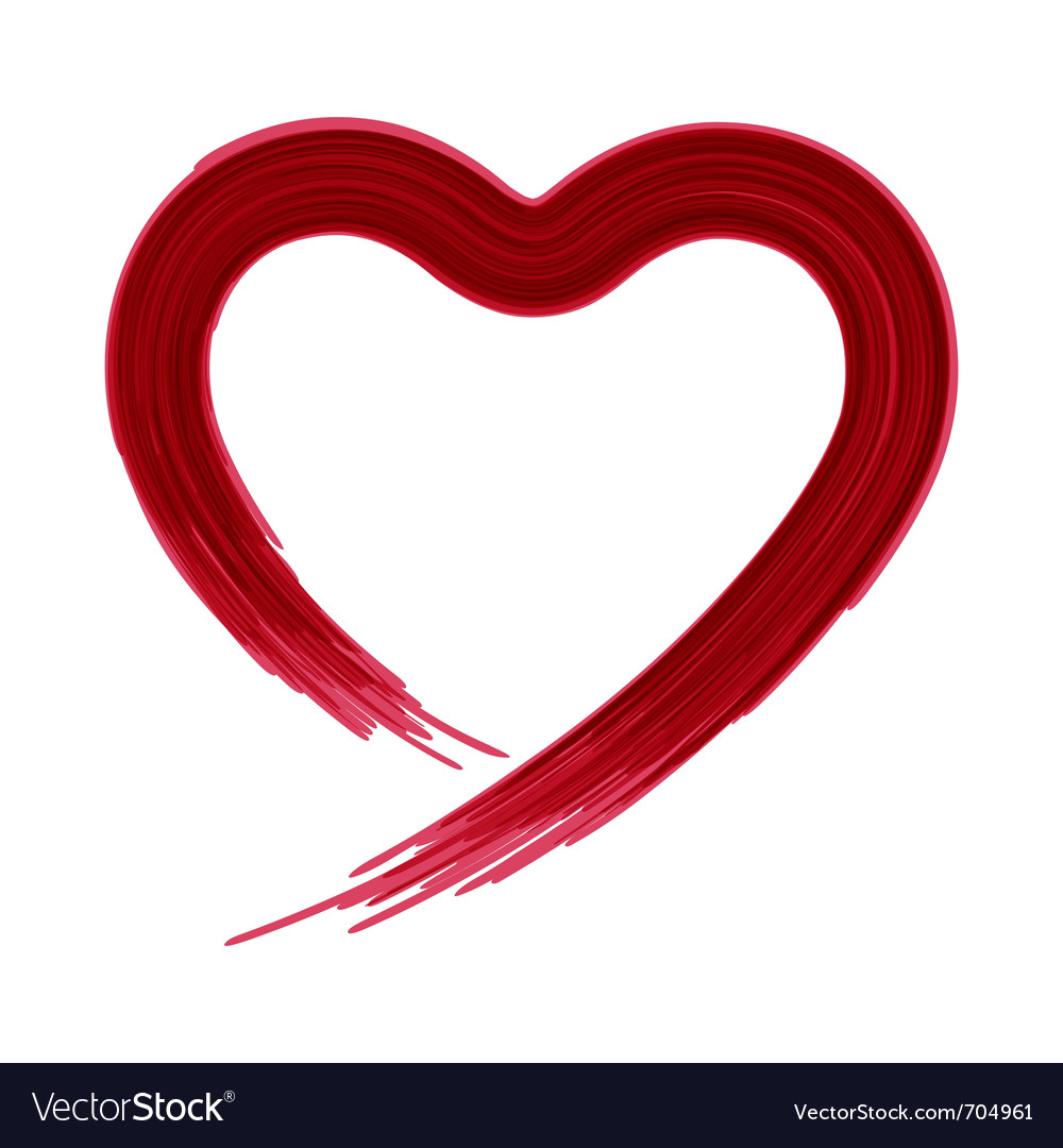 painted heart shape royalty free vector image vectorstock rh vectorstock com heart shape vector png heart shape vector outline
