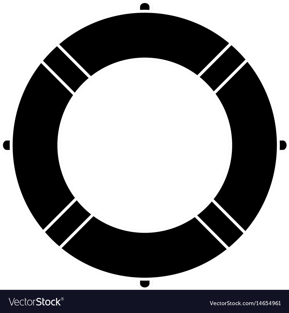 Safety pool icon vector image