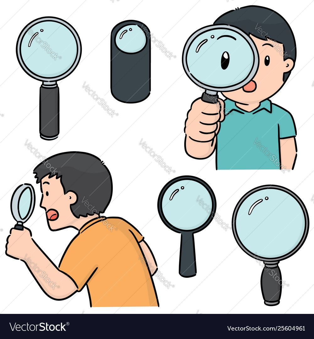 Set magnifying glass