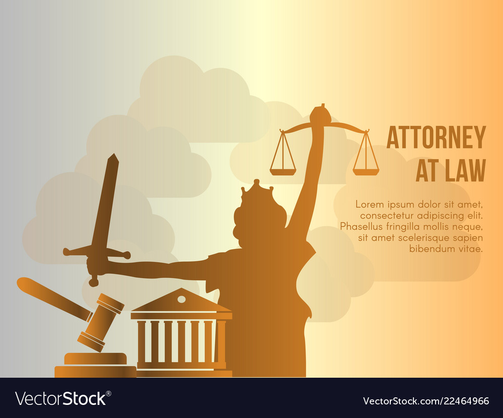 Attorney at law conceptual design template