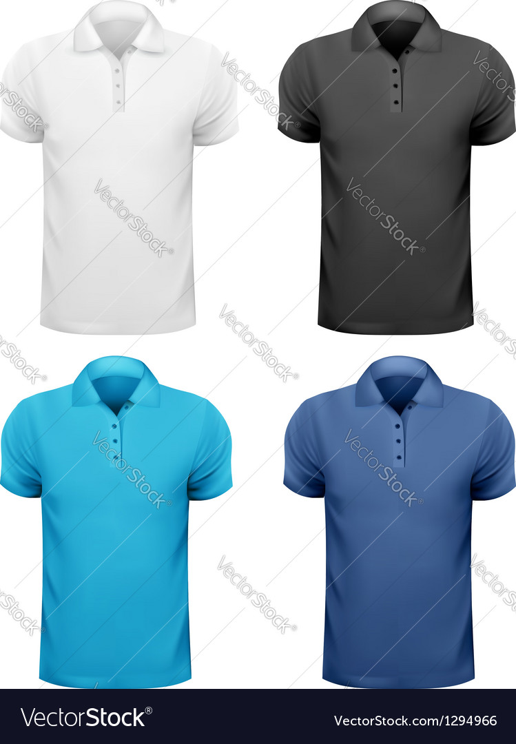 c8f20cf3 Black and white and color men t- shirts Design Vector Image