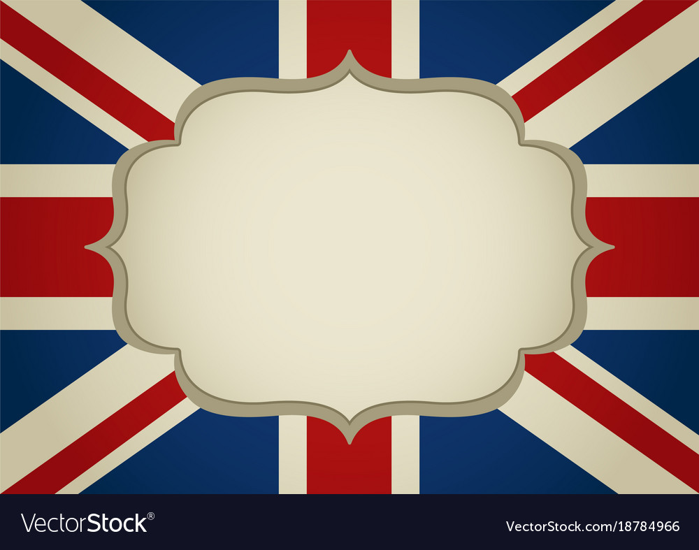 Blank frame on united kingdom insignia Royalty Free Vector