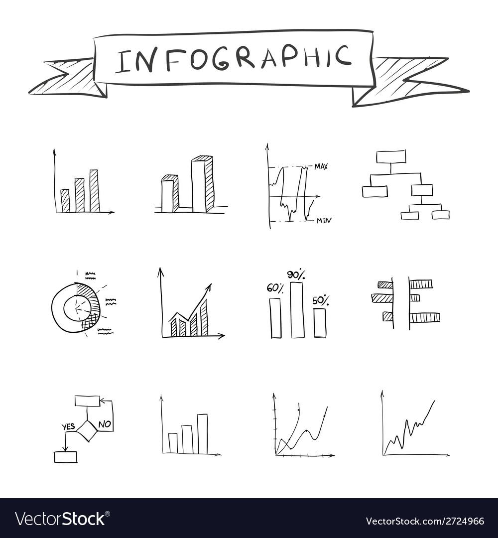 Business doodle graphs