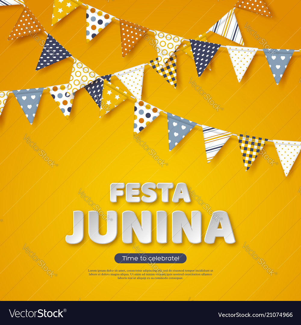 Festa junina holiday design paper cut style