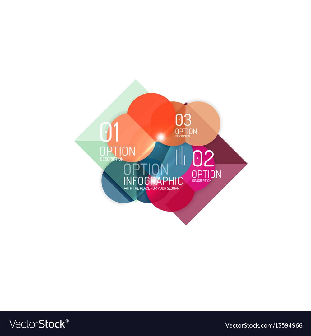 Infographics geometric business template