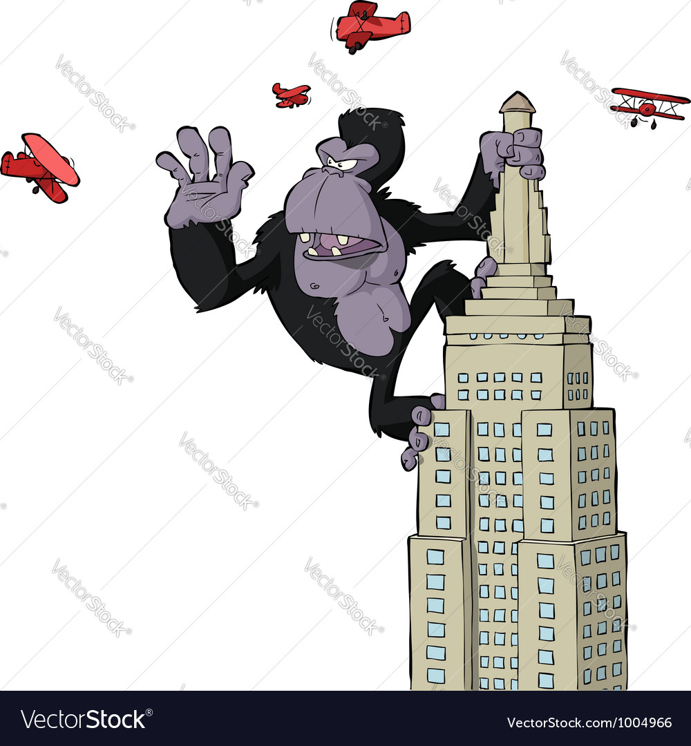 King kong vector image