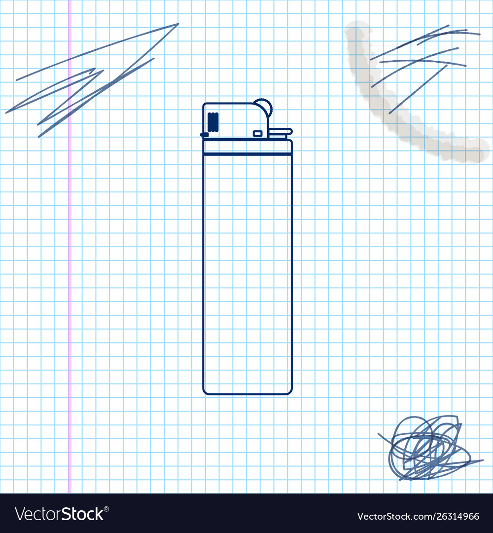 Lighter line sketch icon isolated on white