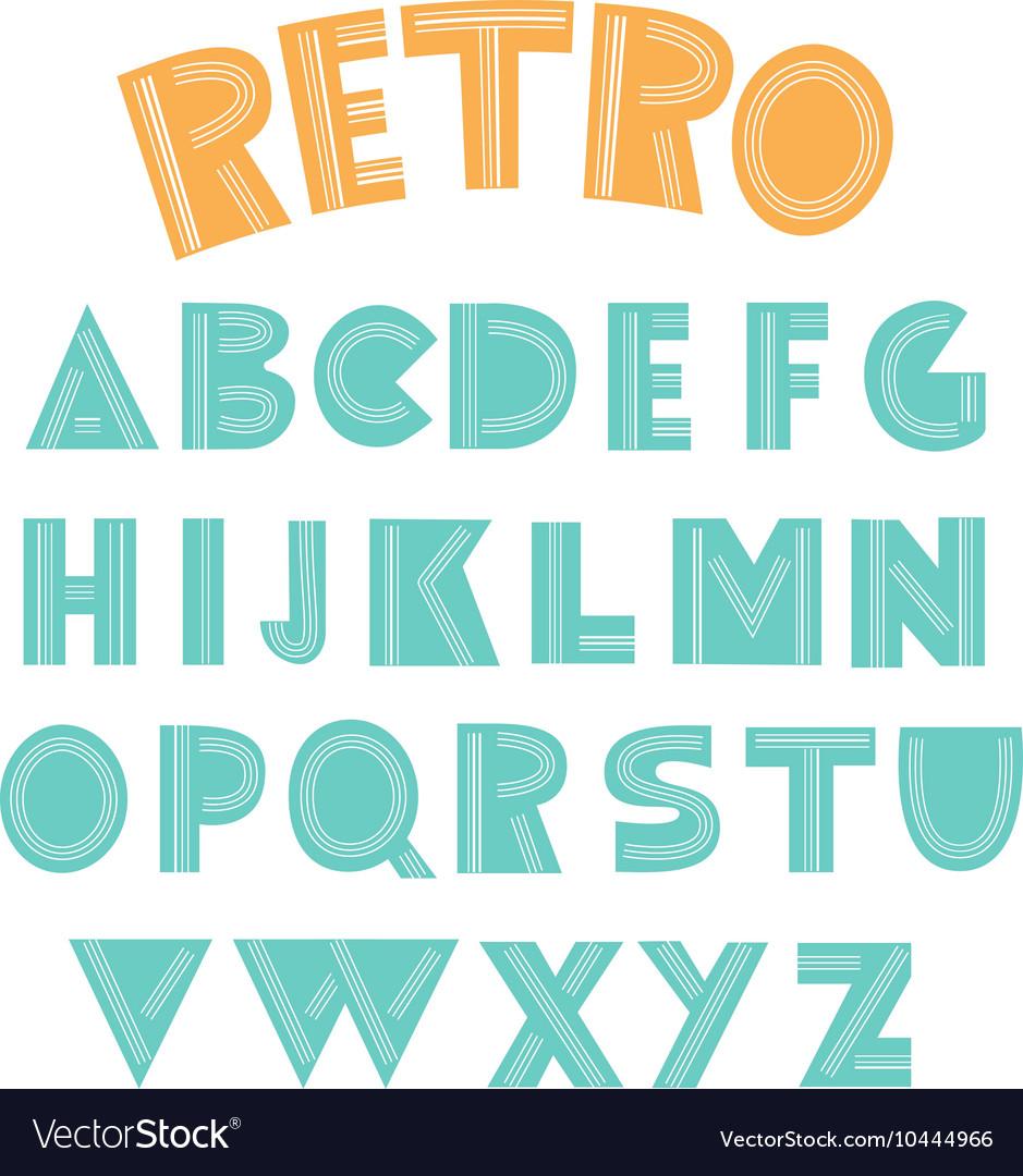 Retro english alphabet