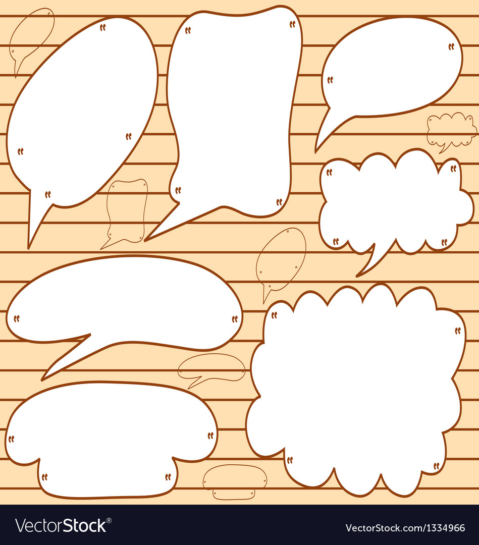 Sketchy bubble speech