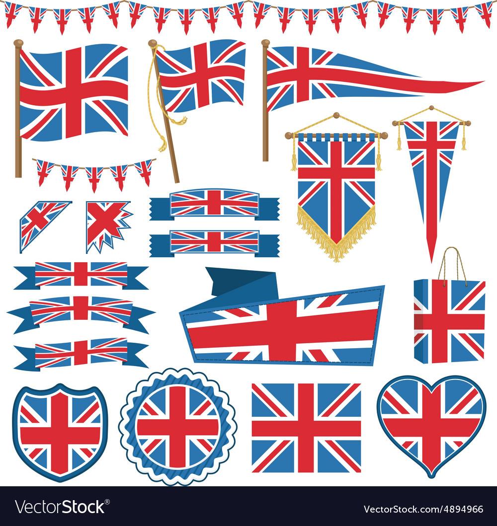 Uk flag decorations