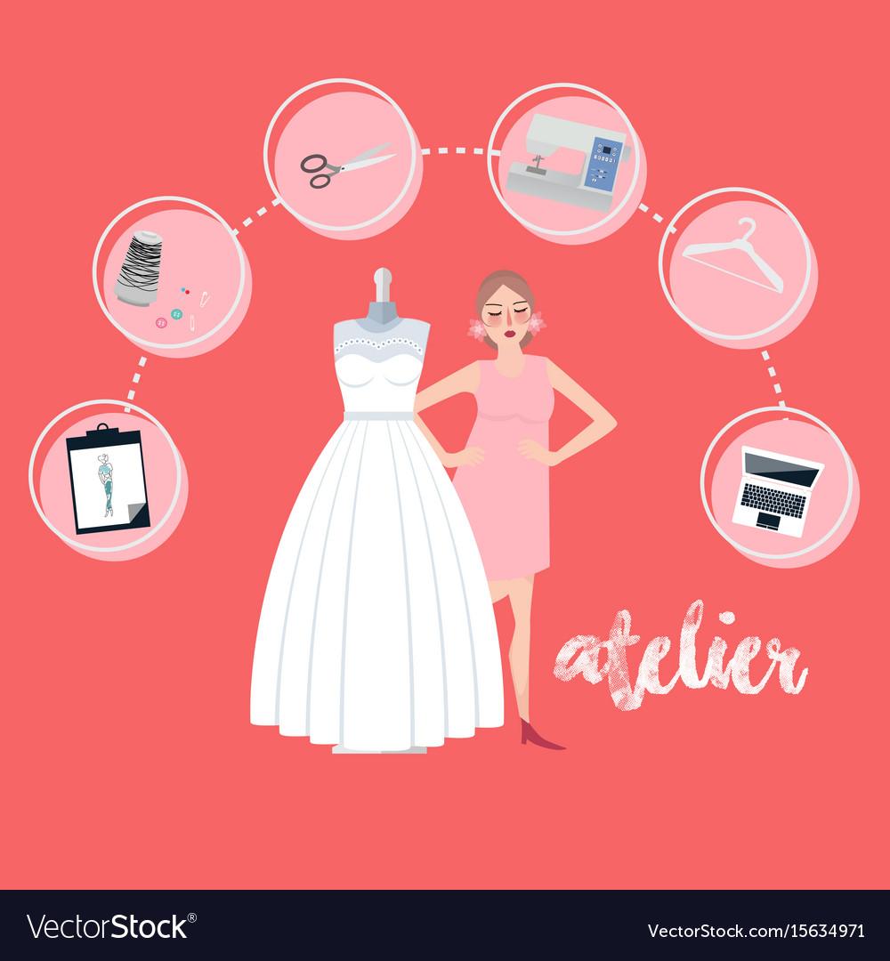 Atelier woman occupation bridal business textile