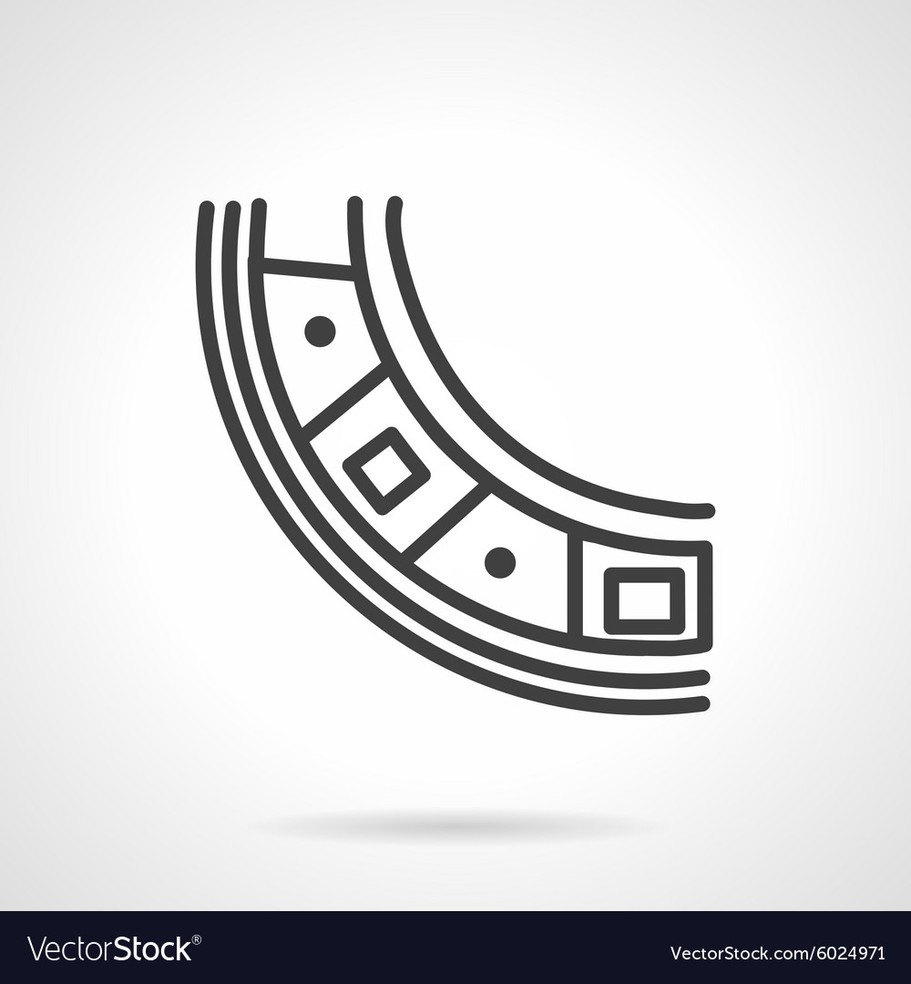 Bearing segment simple line icon