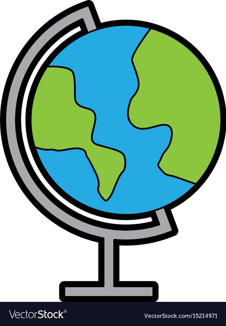 color world map cartoon royalty free vector image vectorstock