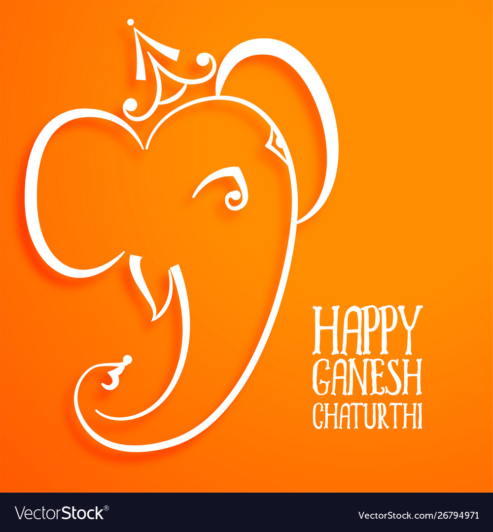 Hindu festival lord ganesha beautiful