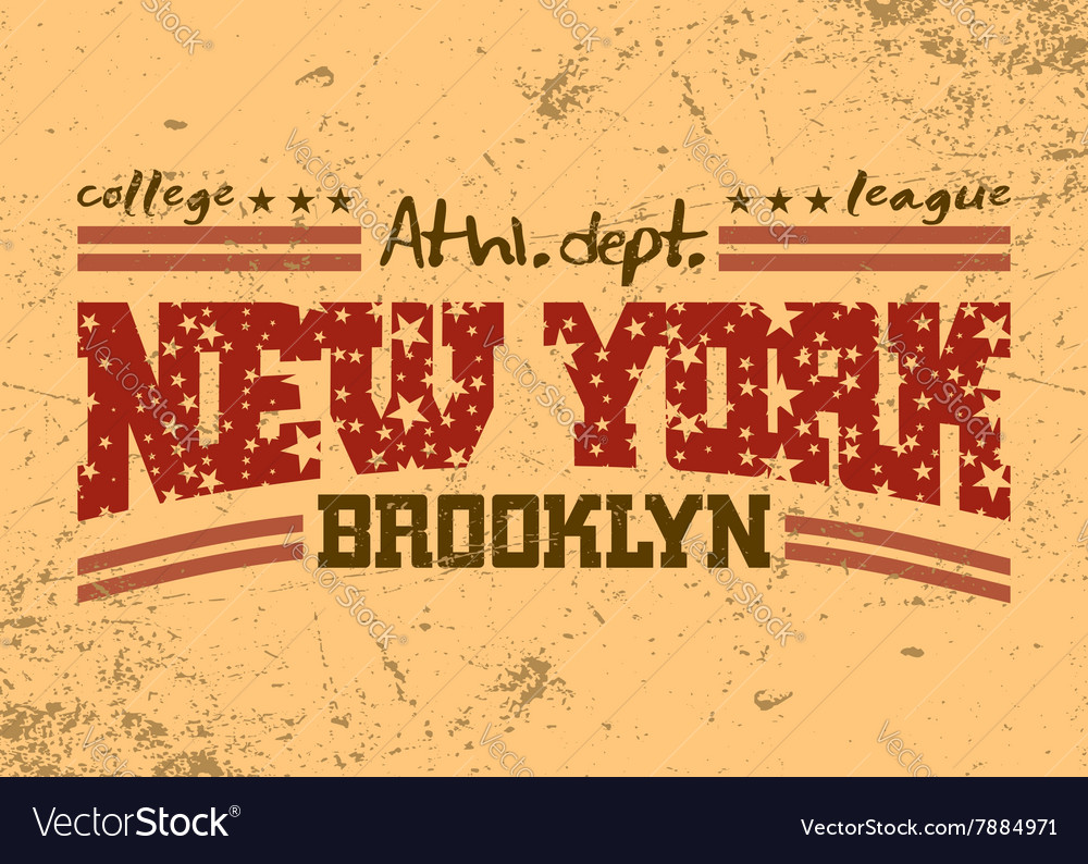 New York city Typography Graphic Brooklyn athletic