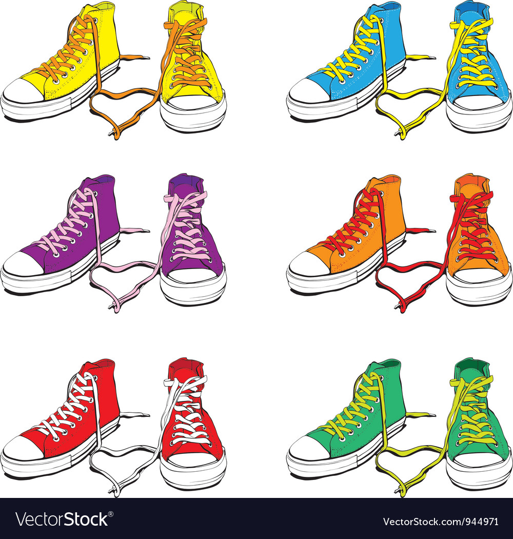 Sneakers set vector image