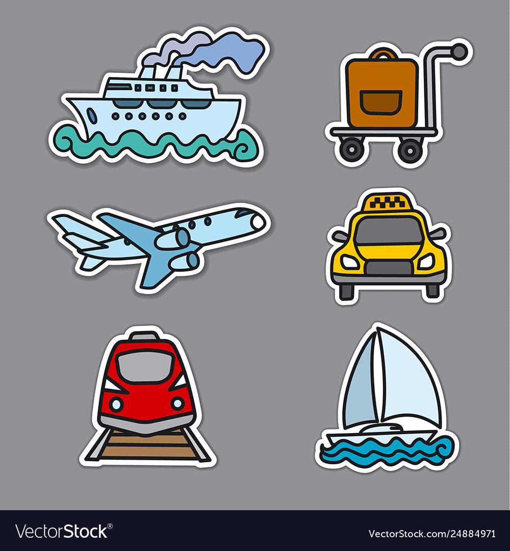 Travel transport stickers