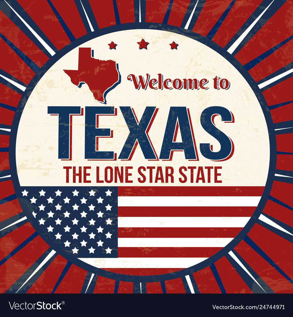 Welcome totexas vintage grunge poster