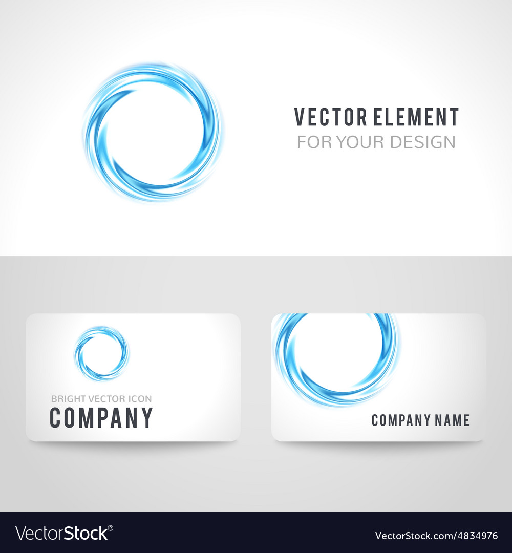 Business card template set abstract blue circle vector image cheaphphosting Images