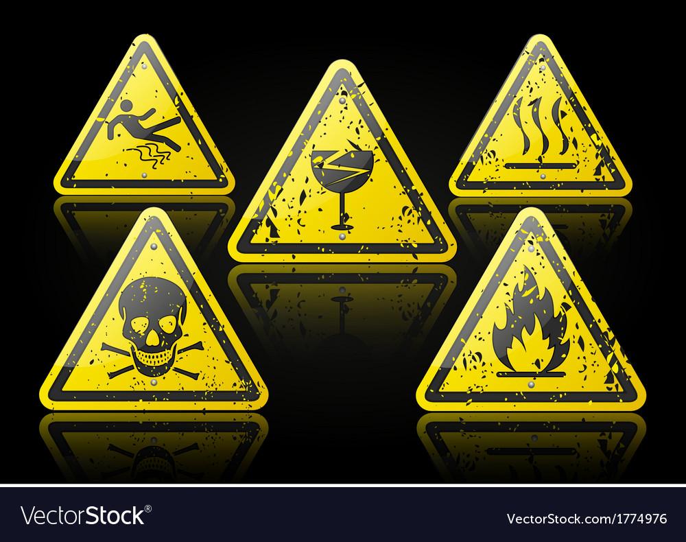 Grunge Danger Sign vector image