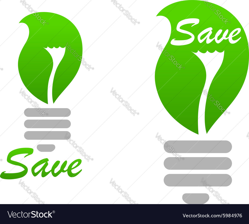 Light bulb icon with green leaf