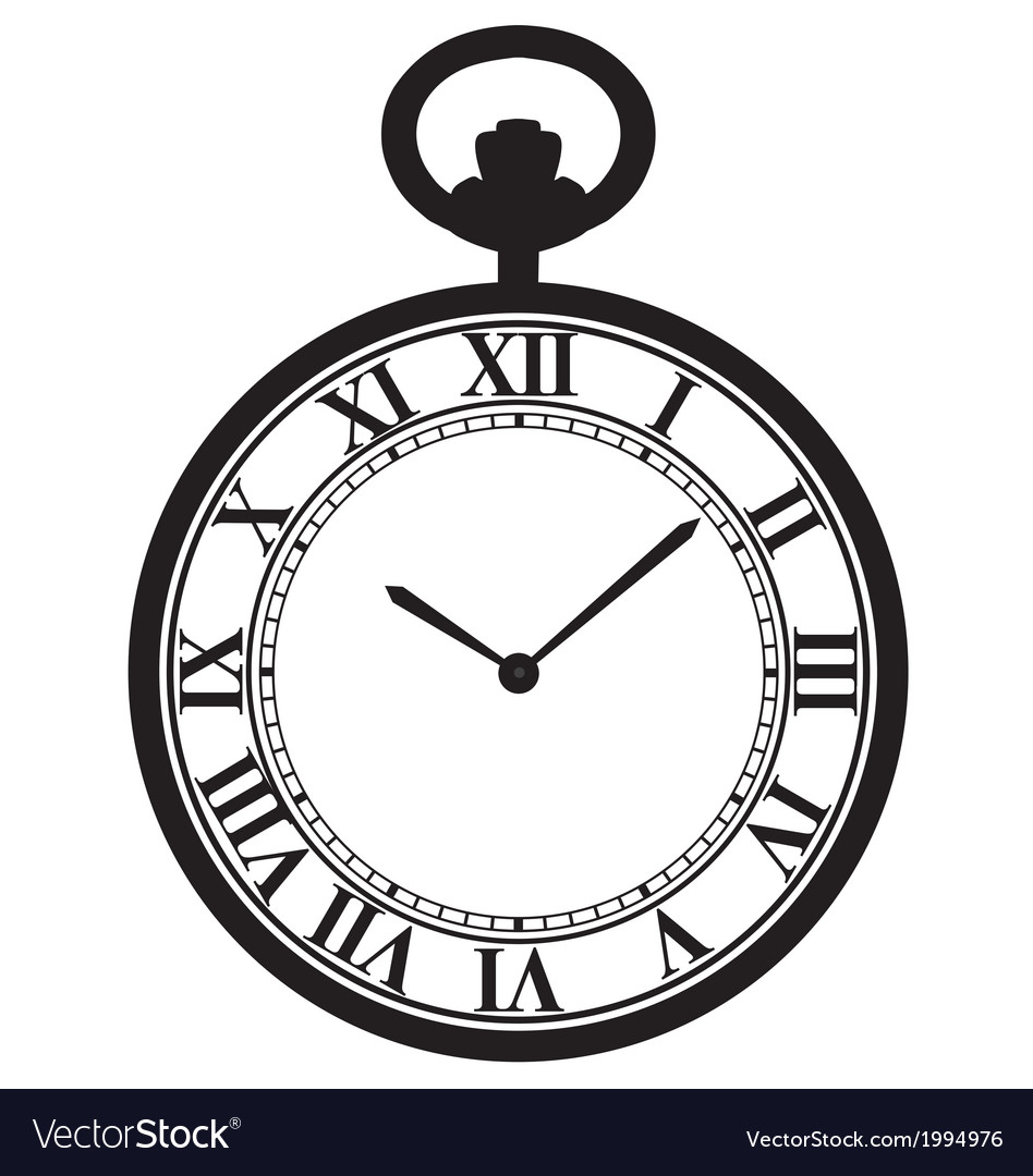 Brand new Pocket watch Royalty Free Vector Image - VectorStock JF91